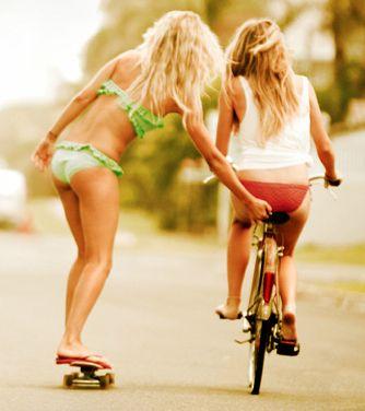 .: Beaches Fun, Riding A Bike, Summer Day, Skater Girls, Best Friends, Beaches Time, Bike Riding, Summer Vibes, Summer Fun
