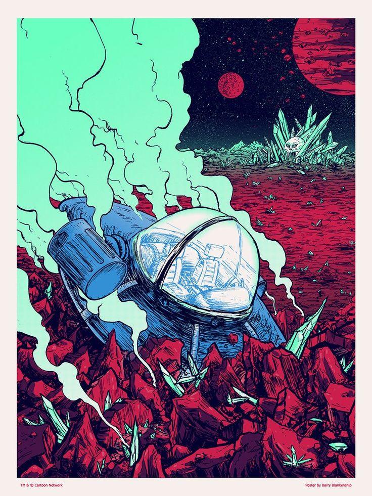 "Barry Blankenship ""Rick & Morty's Smooth Landing"" Print"