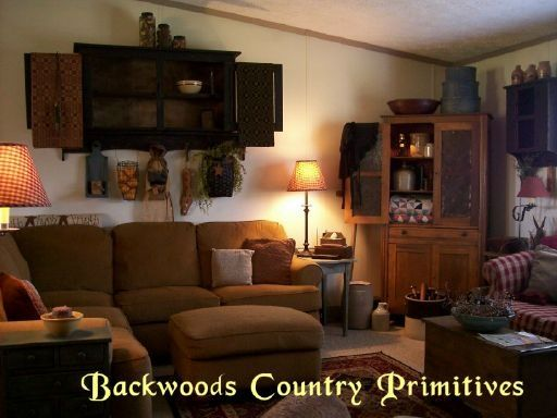 Primitive country living room ideas visit for Primitive living room ideas