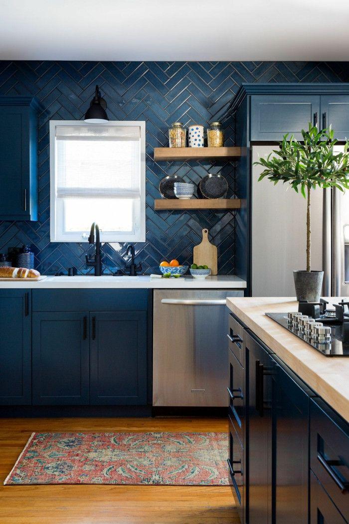 Decoration Cuisine Bleu 2020 En 2020 Design De Cuisine Moderne Dosseret De Cuisine Moderne Cuisines Design