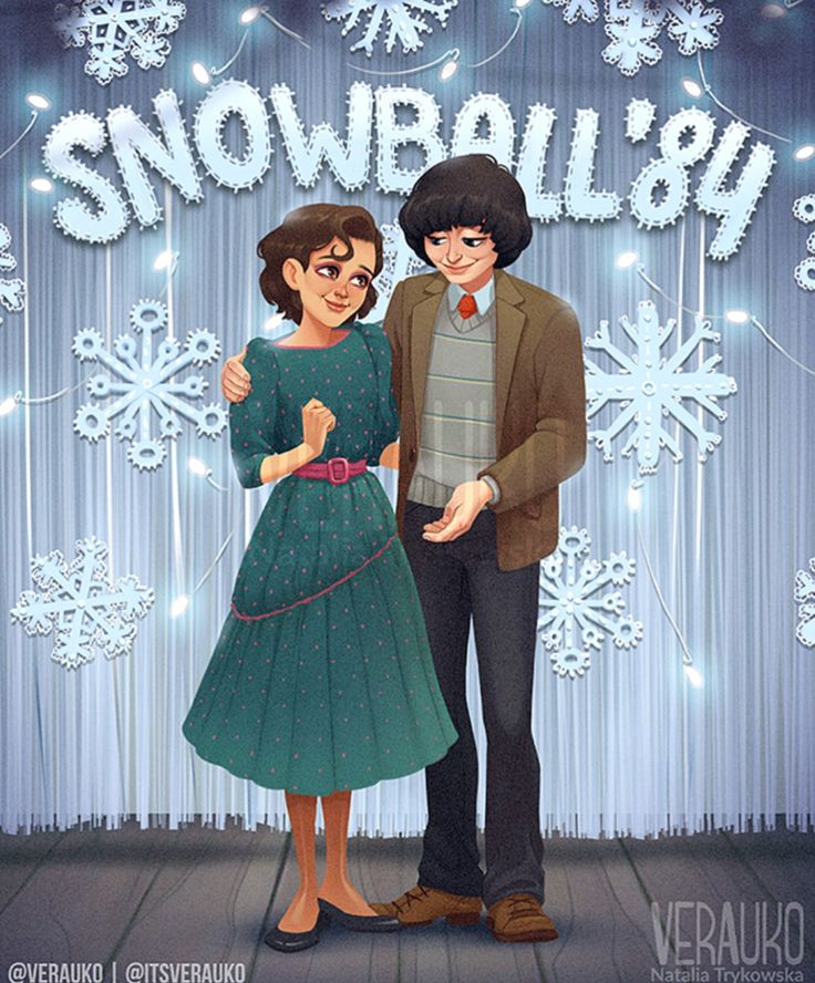Stranger Things Mike and Eleven, Mileven at the Snowball