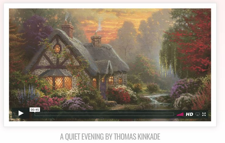 """A romantic inspirational music video for you to enjoy featuring """"A Quiet Evening"""".   Shop this image: https://thomaskinkade.com/product-category/gift-guide/valentines-day-gift-guide/?ref=13  Watch all the Valentine videos: https://vimeopro.com/user55302563/romantic-impressions/  #artwithheart #romanticimpressions #love #valentinesday"""