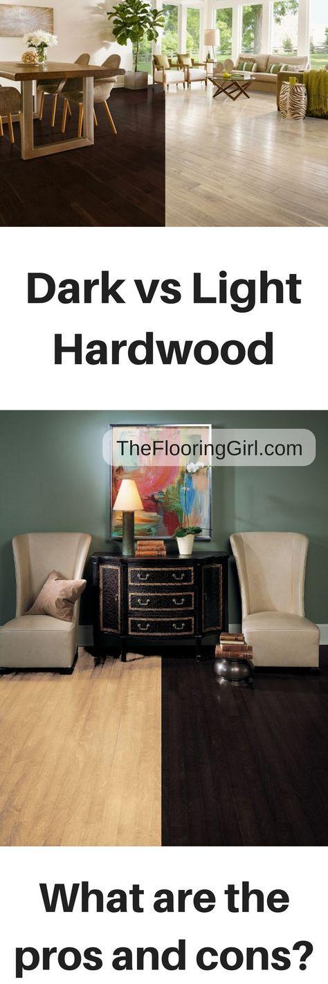 Light vs dark hardwood floors.  What are the pros and cons for dark hardwood flooring and light wood floors?