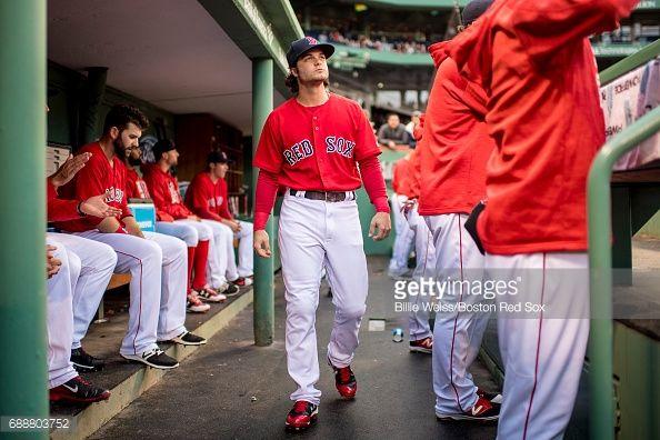 News Photo : Andrew Benintendi of the Boston Red Sox walks...