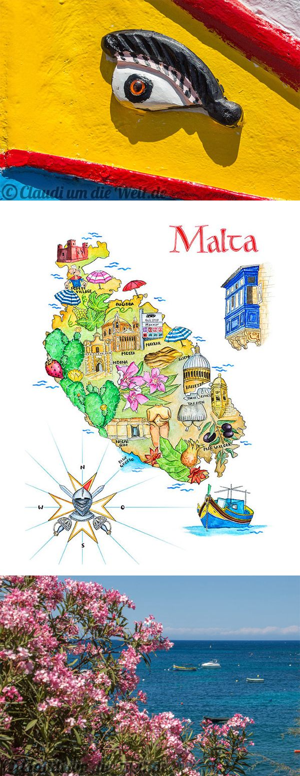Was macht man nur auf #Malta? Es gibt einiges zu sehen, in der Karte steht's!