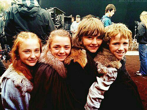 Sansa Arya Bran and Rickon