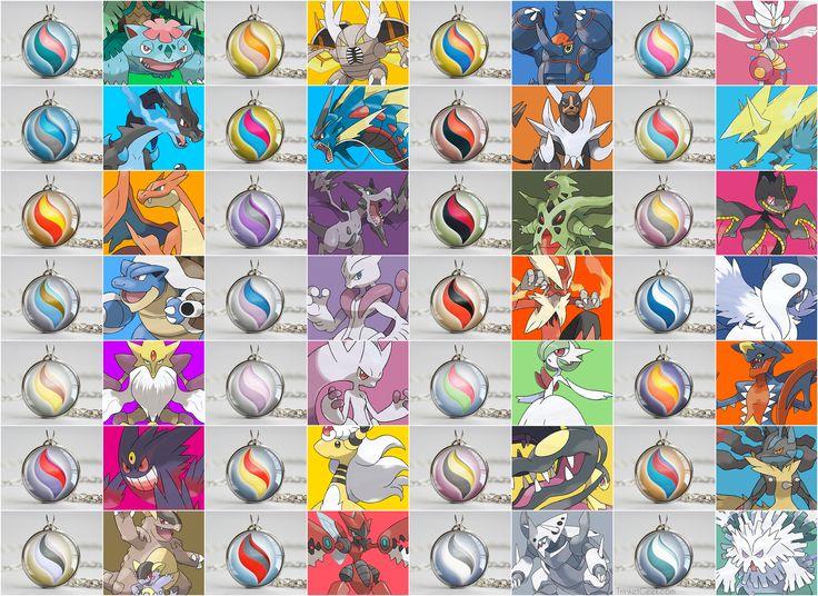Pokémon necklace pendants of ALL of the mega stones from Pokemon X and Y! #nintendo #Hoenn #treatsforgeeks