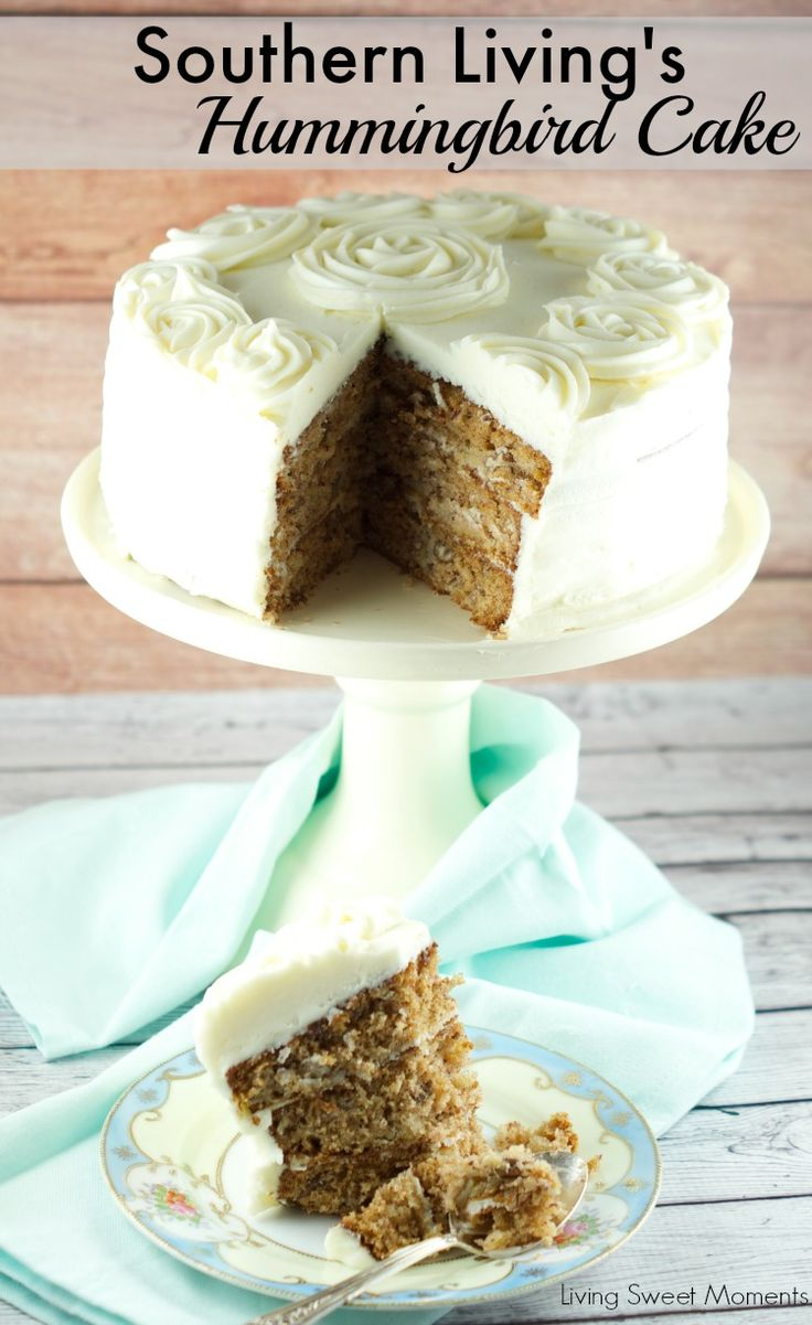 Southern Living's Hummingbird Cake - This spectacular cake is made with 3 layers or banana and pineapple cake and then topped off with cream cheese frosting