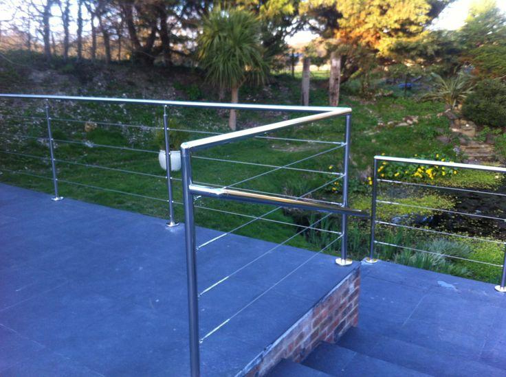 wire rope installed to garden
