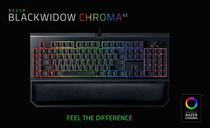 Razer BlackWidow V2 Chroma Keyboard - Feel The Difference - The BlackWidow Chroma V2 is the world's best mechanical gaming keyboard—and every bit worthy of its title.  Open to everyone worldwide.  Ends 2/19