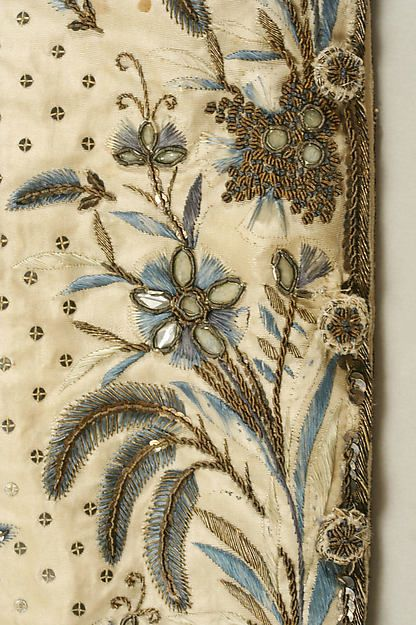 Court suit (image 12 - detail) | French | late 18th-early 19th century | silk, metallic thread, paste | Metropolitan Museum of Art | Accession Number: 1983.384.1a–c