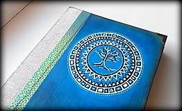 Papiernictvo - Maľovaný diár Mandala strom života - 6902911_