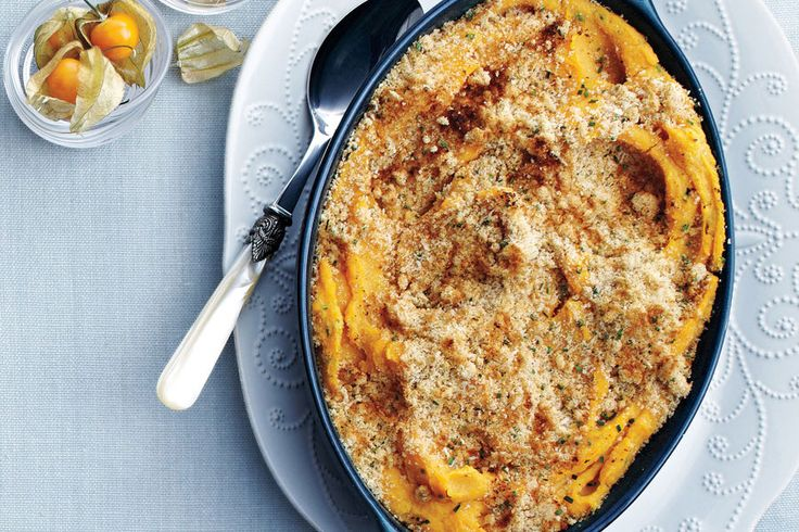 Crunchy Parmesan-Topped Double Potato Mash - 29 cozy recipes to get you excited about cold winter evenings