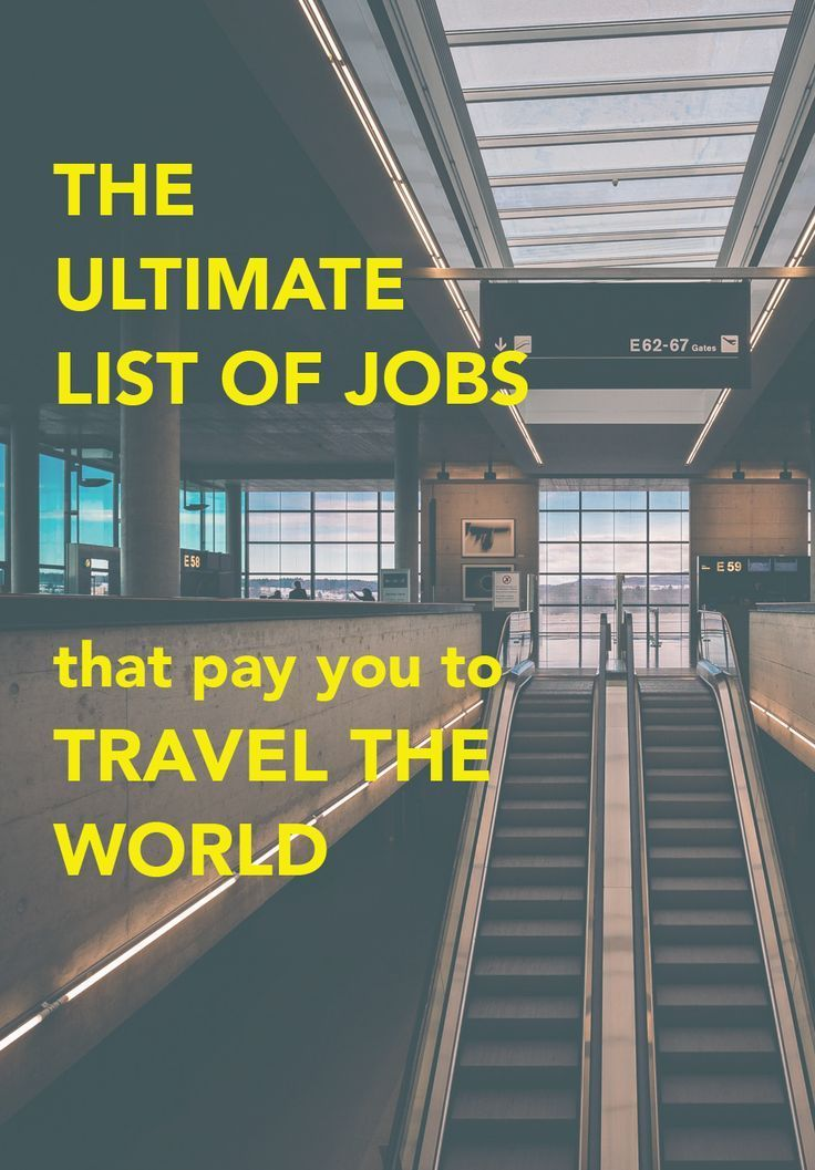 Do what you love with a TRAVEL job! This post lists 33 jobs you can work around the world that pay you to travel!