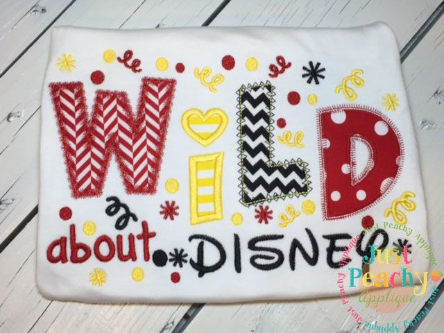 Wild About Disney Applique Design
