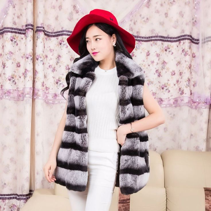 >> Click to Buy << 70cm Length top quality New Chinchilla Real Fur Coat For Women Genuine Rex Rabbit Fur Vest Outerwear Natural Fur Waistcoat #Affiliate