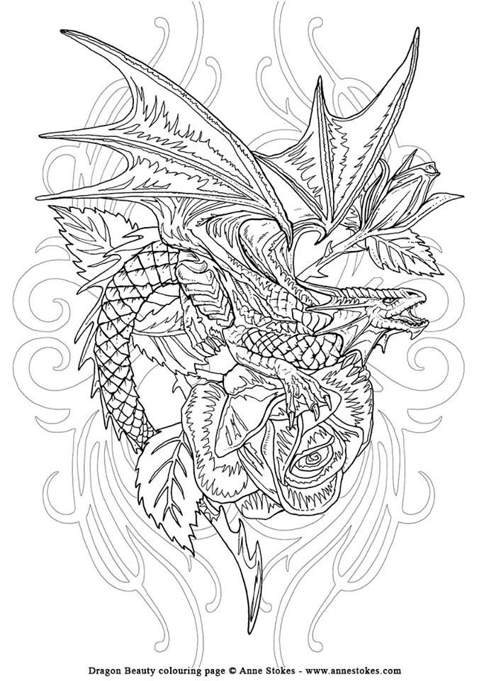 182 best mythical dragon/unicorn colouring images on pinterest - Mythical Creatures Coloring Pages