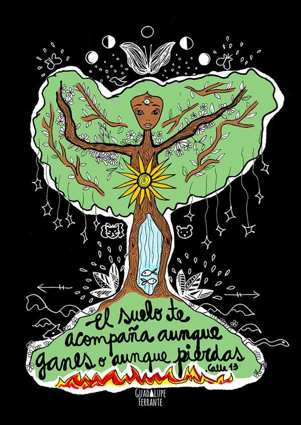 Día de la Tierra Illustration Work by Guadalupe Ferrante, via Behance / Frase: @Carl Jonas Sjonander 13 PR