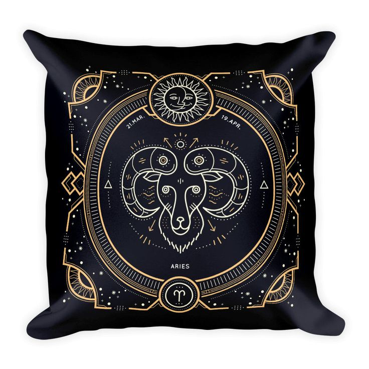 """Aries Zodiac 18""""x18"""" Couch Decor Stuffed Washable Removable Cover With Hidden Zipper. Get free shipping with the code FREESHIPPING ."""