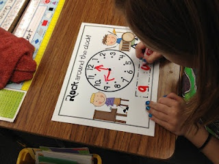 """Kids dance to """"Rock Around the Clock"""" when the music stops they stop at the nearest desk and write that time."""