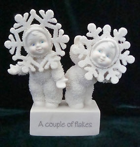 Snowbabies.one of my favorites because of the two flakes that gave it to me.