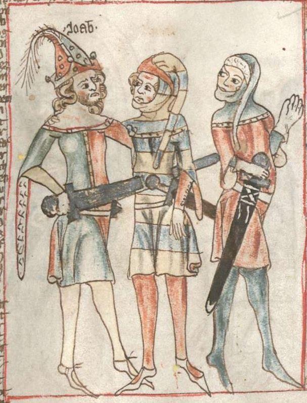 Armenbibel in 41 Darstellungen ungefähr zwischen 1360 und 1375 Cgm 20 Folio 12r