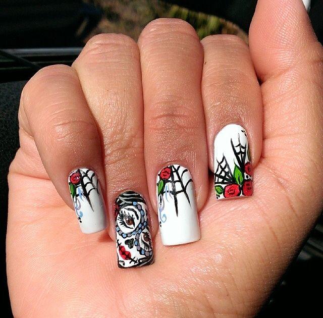176 best nail art inspo images on pinterest cute nails nail dia de los muertos nails prinsesfo Images
