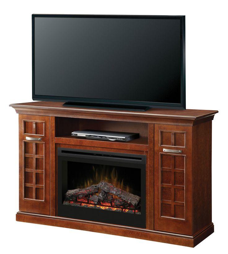 Yardley Media Console Electric Log Fireplace
