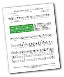 LDS choir music and Christian hymn arrangements for download, inexpensive