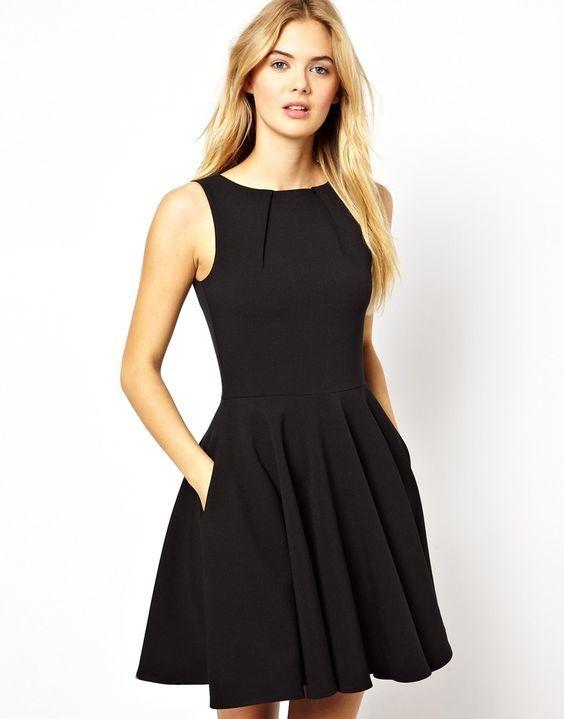 Robe longue noire fendue h&m