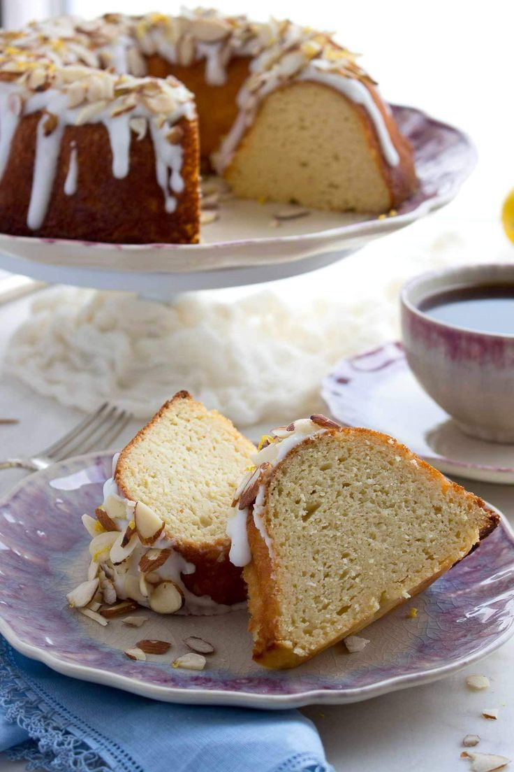 Almond flour, coconut flour and cream cheese combine to produce moist, low carb bundt cake.   low carb, keto, thm