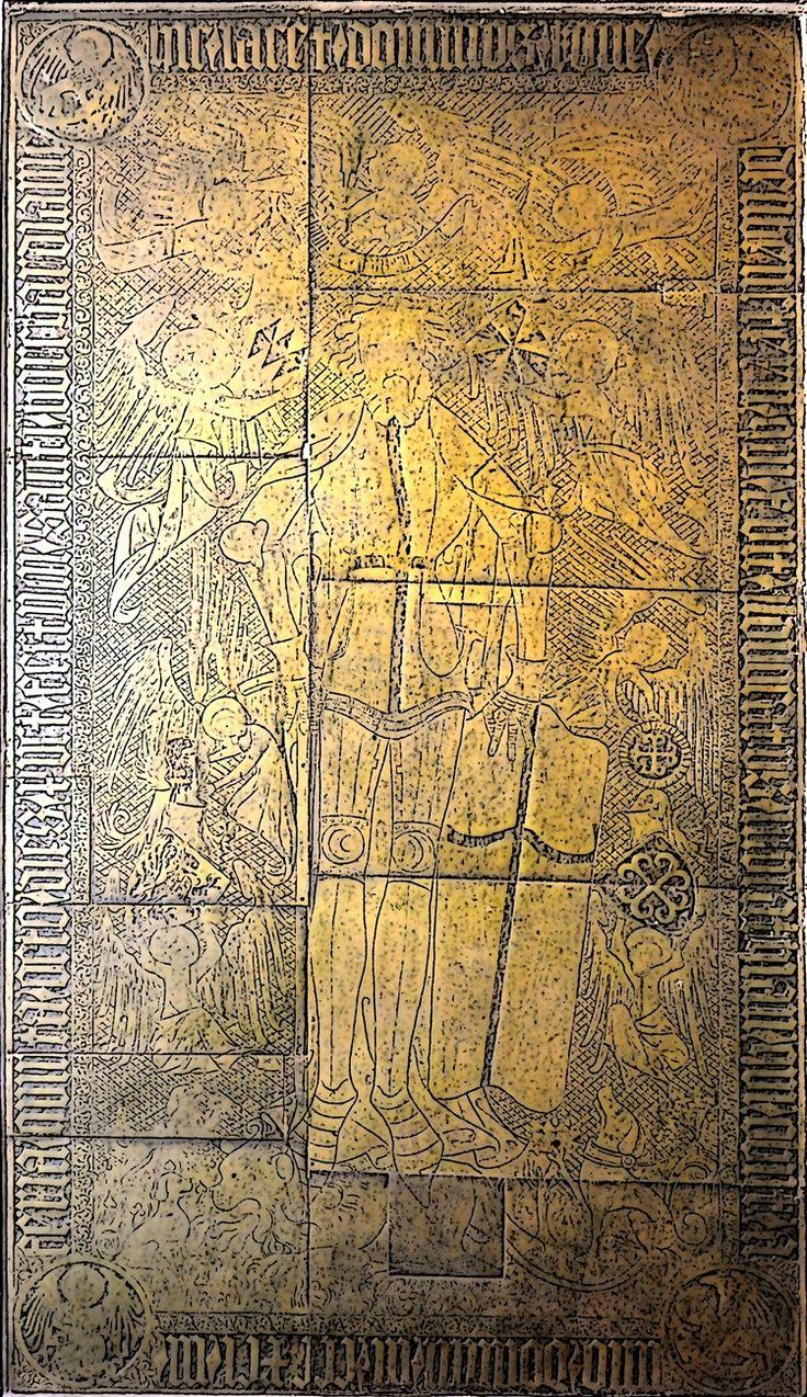 Płyta nagrobna Kunona von Liebensteina W Kościele św. Tomasza Apostoła w Nowym Mieście Lubawskim