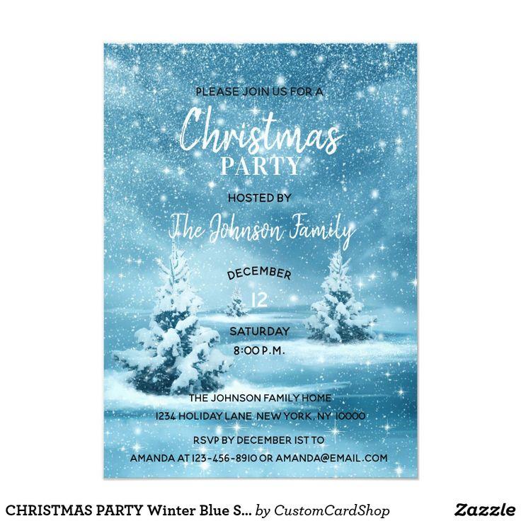 Les 717 meilleures images du tableau zazzlers christmas invitations christmas party winter blue snowflakes snow card ftes de nolinvitations stopboris Gallery