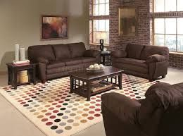 Αποτέλεσμα εικόνας για what colour carpet with brown leather sofa