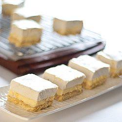 Lemon Marshmallow Slice - gluten-free & low