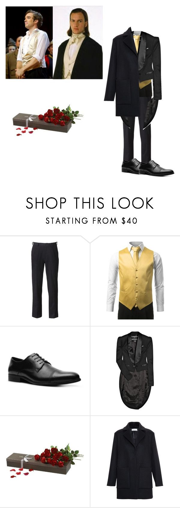 """""""Raoul Vicomte De Chagne"""" by wolf-warrior ❤ liked on Polyvore featuring Raoul, Van Heusen, Kenneth Cole, By Malene Birger, Sia and Balenciaga"""