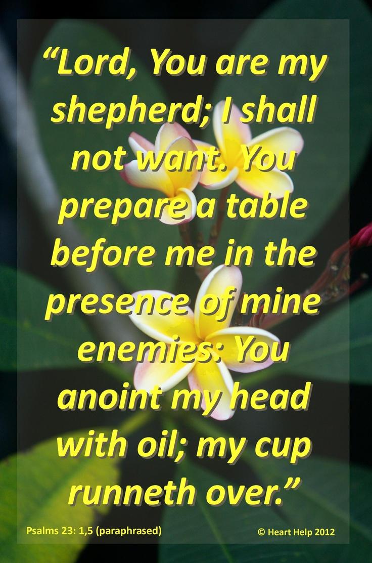 Psalms 23:1,5   Bible   Pinterest   Psalms