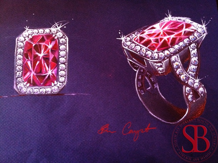 Bit wonky, but I like how bright and sparkly it looks!: Sketch Jewelry, Jewels Sketch, Jewellery Sketch, Jewelry Sketch, Gouaché Sketch, Sketches Jewelry, Gouachés Sketches