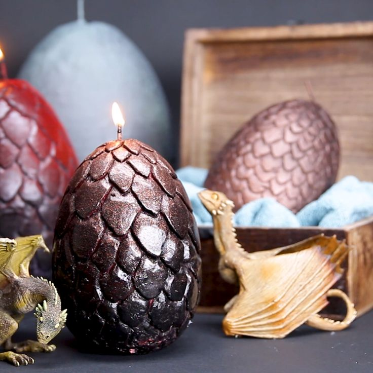 Dragon Egg Candles // #GOT #dragons #candle #DIY #gameofthrones