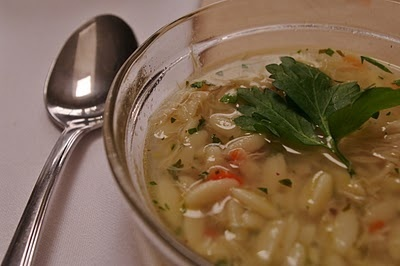 Recipes: Chicken soup with orzo