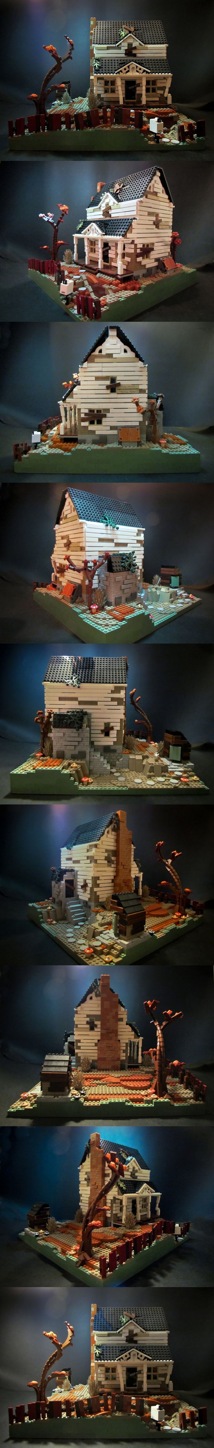 Pin lego 60032 city the lego summer wave in official images on - Abandoned House In Lego