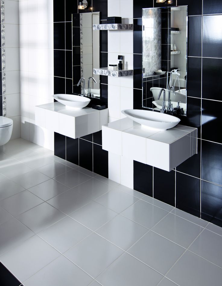 black&white bathroom inspiration #bathroom #obipolska #washbasin #elegant