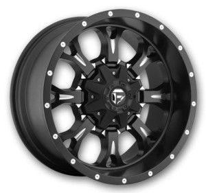 Fuel Wheels D517-Krank 20x10 Black Milled Low Offset…