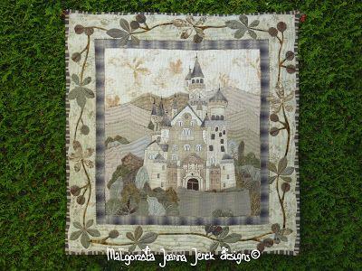 malgorzata.j.jenekdesigns©: Neuschwanstein #quilt #pdfpattern #handappliqué #sewing #patchwork #pattern #patchwork #neuschwanstein #castle #romantic #bayern