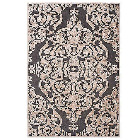 Attractive Safavieh Paradise Collection Venetian Damask Rug In Stone Anthracite
