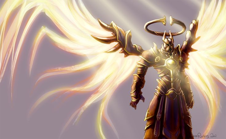 """Imperius"" The Archangel Of Valor and Commander of the Angiris Council, from the ""Diablo"" series by Blizzard Entertainment Video Games Posters"