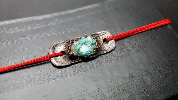Friendship Copper Bracelet with Chrysophrase by mssdelilah on Etsy