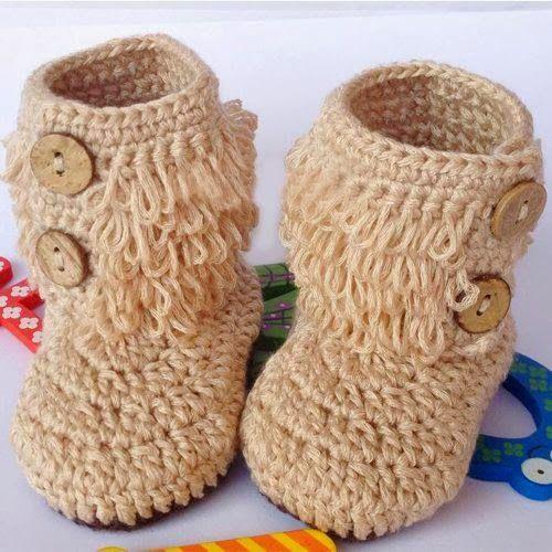 Resultado de imagen para botitas a crochet para bebe niña