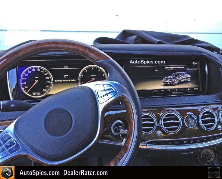 2013 Mercedes-Benz S-Class interior spy photo