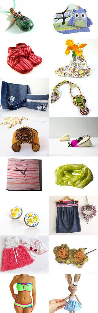 Colorful spring by Krisztina on Etsy--Pinned with TreasuryPin.com